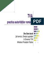 5_Prezentare Dna Iacob_TVA Practica Autoritatilor Romane_ROM