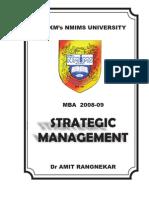 Strategic Management Course Outline Strategic Management Evaluation