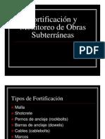Fortificacion y Monitoreo de Obras Subterraneas