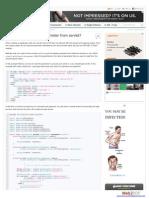 How Do I Read Request Parameter From Servlet