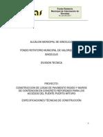 Especificaciones Tecnicas Puente