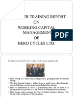 Report on Summer Training at Hero Cycles Ltd