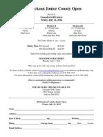 2014 Junior County Open Entry