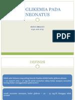 Referat Hpoglikemia Pada Neonatus