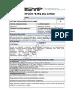 Descripción de Los Perfiles Del Cargo - Operaciones