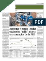 Acciones y Bonos Locales Extienden Rally Alcista_Gestión 20-06-2014