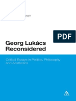 Georg Lukacs Reconsidered Critical Essays in Politics Philosophy and Aesthetics (2)