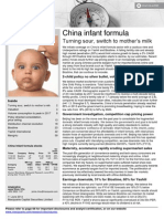 Infant Milk Formula China By Macquarie