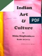 Indian Art & Culture - IAS 51 Rank ( Nitin Singhaniya) -1