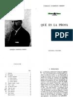 Anderson Imbert, Enrique - Que Es La Prosa