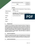 RE-I+D-041 Silabo  Sistemas de Gestión de Seguridad en el Trabajo y Gestion de Riesgo