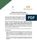 Declaración de Lima sobre arte, salud y desarrollo