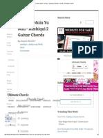 Chahun Main Ya Naa - Aashiqui 2 Guitar Chords _ Ultimate Chords