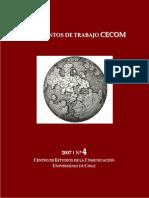 Documentos de trabajo del Centro de Estudios de la Comunicación 2007