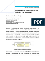 Control de Velocidad de Un Motor de CD Con Un Controlador PID Wavenet