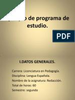 Ejemplo de Programa de Estudio