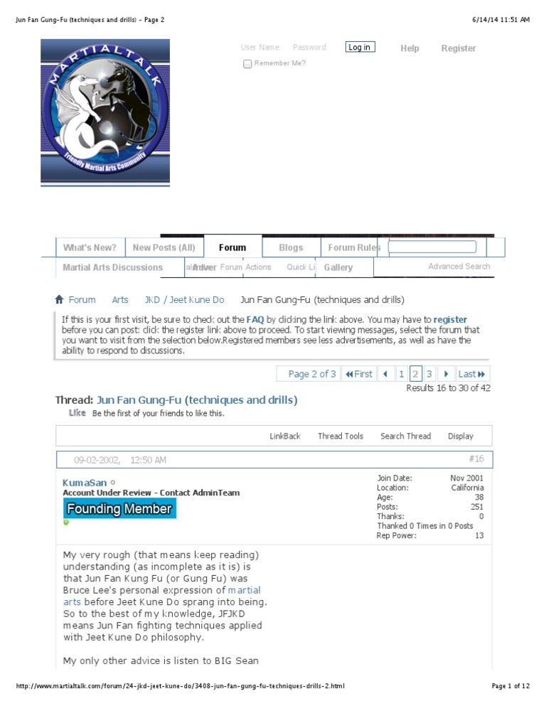 Jun Fan Gung Fu Techniques And Drills Page 2