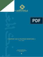 Bank Al Maghrib - Rapport Sur La Politique Monétaire