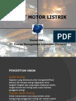 Audit Energi Pada Motor Listrik