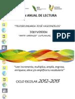 Plan Anual de Lectura 2012-2013