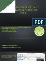 Uso de Maquina Virtual e Instalacion de Ubuntu