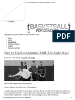 How to Teach a Basketbal..