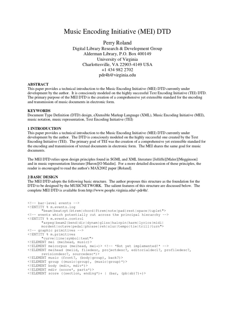 Perry Music Network 2003 Xml Metadata