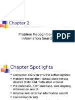 Problem Recognition & Information Search