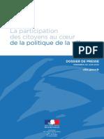 DP - La Participation Des Citoyens Au Coeur de La Politique de La Ville