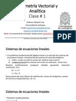 Clase 01 Módulos 0 y 1 Gemetria Vectorial y Analítica