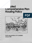Portland Adopted Comprehensive Plan Housing Policy 1999