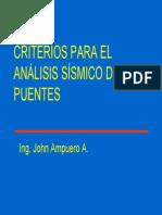Criterios Para El Análisis Sísmico de Puentes