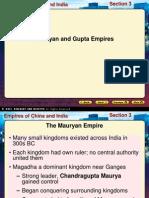 Mauryas and Guptas Compare
