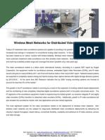 Wireless Mesh for Video Surveillance