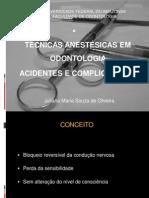 Técnicas Anestésicas Em Odontologia