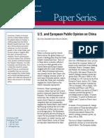 U.S. and European Public Opinion on China