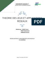 Theorie Des Jeux Et Applications Reseaux