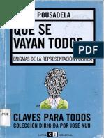 Que se vayan todos. Enigmas de la repres - Pousadela, Ines.pdf