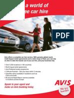 Avis Itineraries 2013