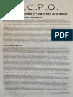 1977. Lucha Democratica y Hegemonia Proletaria
