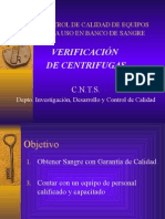 verificación de centrifugas