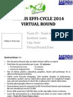 Efficycle 2014 _Virtual Presentation Format