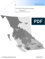 B.C. Unemployment Rates by Region, May 2014