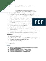 SAP Access Control 10.0 # Implementation