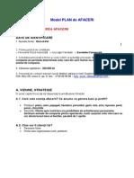 Model de Plan de Afaceri Start
