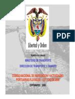 Ley 1242 de 2008_Código Nacional de Navegación y Actividades Portuarias Fluviales
