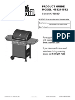 CharBroil Grill Model 463211512 Owners Manual