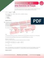 Enem Em Fasciculos Fasciculo 4 2013 Matematica Farias Brito Exercicios Fixacao