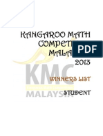 Result KMC 2013 Student