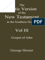 The Coptic Version of the New Testament in the Southern Dialect Vol III John Horner